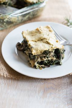 Creamy Vegan Mushroom and Kale Lasagna recipe