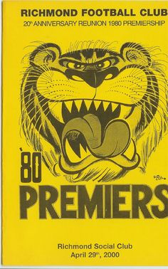 richmond tigers joined 1908 premierships 10 1920 1921 1932 1934 1943 1967 1969 1973. Black Bedroom Furniture Sets. Home Design Ideas