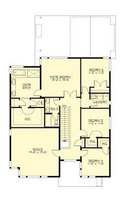 Plano de hermosa casa moderna de 4 dormitorios y 3 garajes-3
