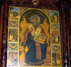 Saint Spyridon, Bishop of Trimythous is a saint honoured in both the Eastern and Western Christian traditions. He reportedly converted a pagan philosopher to Christianity by using a potsherd to illustrate how one single entity (a piece of pottery) could be composed of three unique entities (fire, water and clay); a metaphor for the Christian doctrine of the Trinity. As soon as Spyridon finished speaking, the shard is said to have miraculously burst into flame, water dripped on the ground…