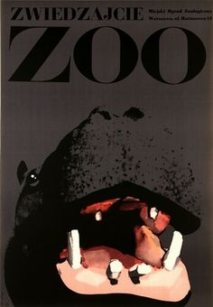 Zoo by Waldemar Swierzy Art Deco Posters, Zoo Art, Circus Poster, Graphic Design Print, Polish Posters, Polish Poster, Graphic Art, Illustration Print, Typography Art