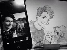 "Keeping up with @danisnotonfire elephant selfies  ""patreon 