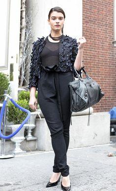Street Style- Plus Size- curvy fashion #black #jumpsuit