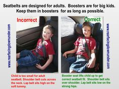 The Importance of Booster Seats - Rear-Facing Down Under Booster Seats, Info Graphics, Injury Prevention, Big Kids, Car Seats, Safety, Training, Children, Face