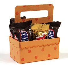 3D candy bar crate