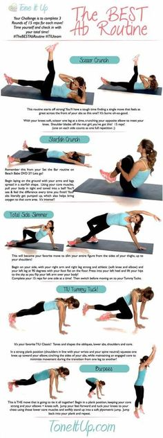 The Best AB Workout Routine! on We Heart It
