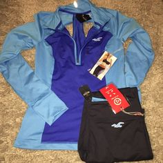 Hollister Workout Set. Cutout pull over jacket and ultimate legging. More pictures upon request. Hollister Tops Sweatshirts & Hoodies