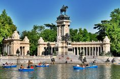 El Retiro Park --- Madrid.  It has become one of Matt's favourite places in the world.