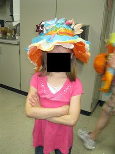 Tissue Paper Hats for Mother's Day Tea