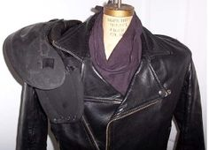 Shoulder Armour like this with leather straps are easy to make