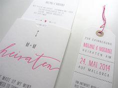 Hochzeitseinladung/ Safe the Date