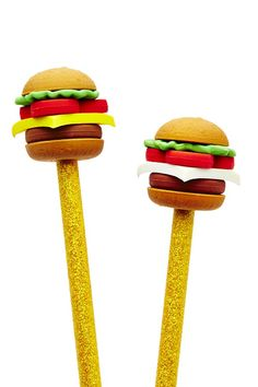 Cheeseburger Pencil Stackers
