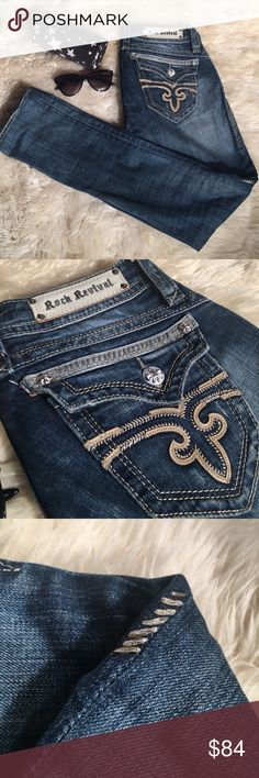 Rock Revival jeans! Like new! Arely worn and great condition. Size 28. Purchases at buckle for $168. Rock Revival Jeans Skinny