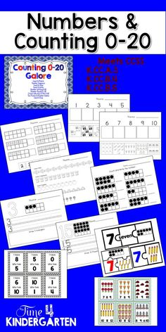 This packet is perfect for introducing, teaching and reinforcing Counting and Cardinality for Kindergarten K.CC.A.3 K.CC.B.4 K.CC.B.5 Included in this packet Count & Match Number Sequence Count & Color Count & Write Number Writing 0-20 Number Puzzles 1-10 I Have Who Has 0-10 & 0-20 Ten Frames & Number Words Count & Clip