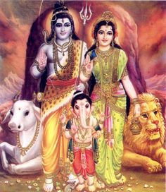 Lord Shiva Google Search with Goddess Parvati & Lord Ganesha