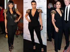 Jennifer Hudson, Kim Kardashian & Salma Hayek from Bitch Stole My Look!  Good things come in threes, we guess? All of these ladies are loving Alexander McQueen's epaulettes but who's head and shoulders above the rest?(If Kim wears it best, sound off in comments since there are only two voting options!)