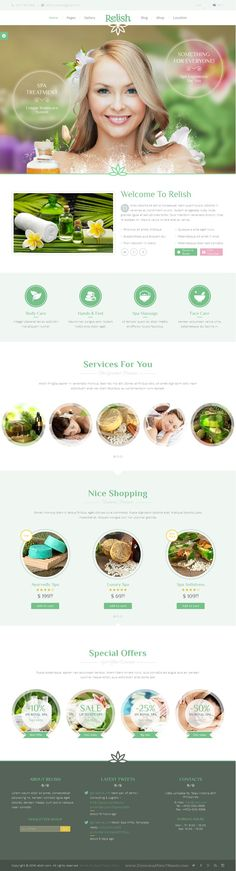 Relish is a beautiful and clean Bootstrap HTML template, suitable for a wide variety of #websites. It will perfectly fit your #spa #salon, yoga studio or any other related businesses!