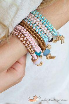 DIY Leather bracelet - #DIY #Bracelet Tutorials – Easy to Make