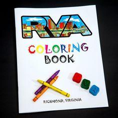 RVA Coloring Book and Crayon Set by Julie Crowder. Crayon Set, Artists Like, Zig Zag, Coloring Books, Design, Vintage Coloring Books, Coloring Pages