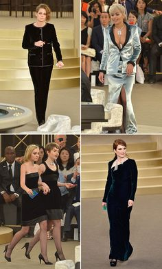 Kristen Stewart, Chanel runway model?! The actress, (and muse of the fashion house), opened up the Chanel haute couture fashion show — and she wasn't the only famous face on the runway! Lily Rose-Depp, Lily Collins, Rita Ora, and Julianne Moore also modeled as they made their way down the catwalk.