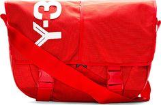 Y-3 Red Logo Messenger Bag