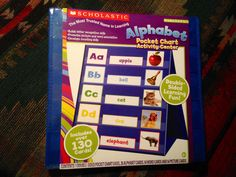 "Scholastic: ""ALPHABET  POCKET CHART/ACTIVITY CENTER"" Includes over 130 Cards ---On Auction w/ Starting Bid at ONLY $9.00......Come Get It Quick!"