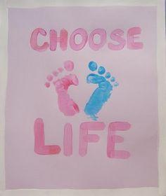 Pro Life Craft for Kids: Choose Life