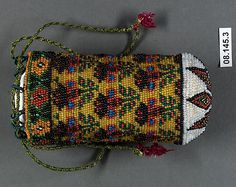 Storage bag Date: 19th century Geography: Iran Medium: Glass bead