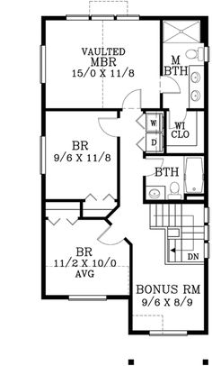 Upper/Second Floor Plan: 44-528