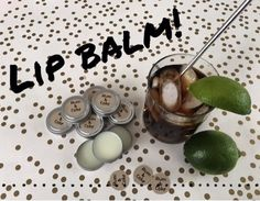 Not only are lip balms easy to make, but this flavor oil is ridiculously good! It smells (and tastes) just like the real deal (well, without the booze, of course)! #essentialoils #diy