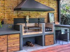 Outdoor Cooking Area, Outdoor Kitchen Patio, Outdoor Patio Designs, Outdoor Kitchen Design, Backyard Patio, Backyard Ideas, Flagstone Patio, Diy Kitchen Storage, Smart Storage