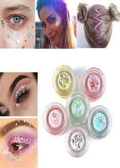 Colorful Glitter Sequins Eyes Makeup Tutorials, Makeup Ideas, Makeup Tips, Eye Makeup, Home Beauty Tips, Beauty Products, Beauty Hacks, Unique Makeup, Latest Makeup