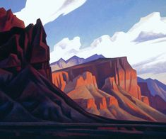 ed mell paintings | Wingate Cliffs. Photo courtesy of Painters of Utah's Canyons and ...