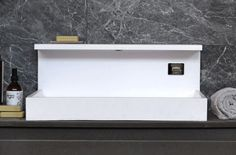 JP by mg12: rectangular washbasins in Solid Surface and marble