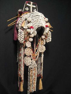 Akha Wedding Ceremony Headdress.  This masterpiece was made by an Akha mother for her daughter for her wedding ceremony | 4500$ ~ sold