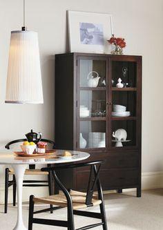 KLINGSBO Glass-door cabinet, black, clear glass | Glass doors ...