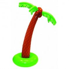 The Inflatable Jumbo Palm Tree is a great way to go tropical for your luau or beach party. The inflatable tree is 6 feet. Pick up several to use as decorations, door prizes or party toys. #summer #inflatable #palmtree