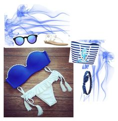 """sea style"" by illibatot ❤ liked on Polyvore"