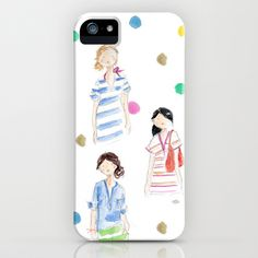 J. Crew Summer Girls iPhone & iPod Case by Sophie & Lili - $35.00