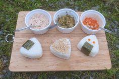 Onigiri mit 3 verschiedenen Füllungen