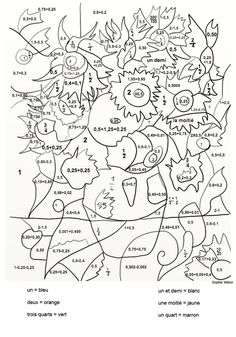 Mosaic coloring pages for parts of speech forest fun - Coloriage magique vierge ...