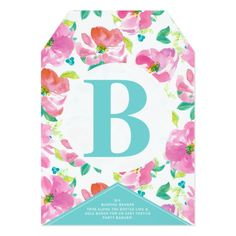 DIY BUNTING BANNER Summer Pink Floral Custom Card