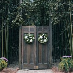Outdoor Wedding Ceremony Doors. Reminds me of something you would see in Narnia! Great outdoor play area idea too!