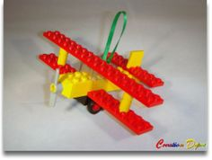 Build Your Own Lego® Biplane Christmas Holiday Tree Ornament Stocking Stuffer S | eBay