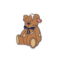 """""""Grim The Bear"""" Pin by Free Radicals"""