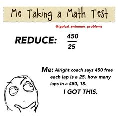 They're are some crazy benefits to swimming!! It really helps with math problems!