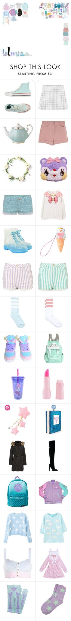 """""""Packing for Tour"""" by kaelighofficial ❤ liked on Polyvore featuring Converse, Royal Albert, TALLY WEiJL, cutekawaii, MICHAEL Michael Kors, Gianni Renzi and Disney"""