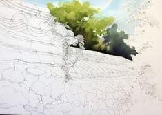 [풍경수채화] 고궁의 가을 (공생) - 수채화 과정 : 네이버 블로그 Snow, Watercolor, Outdoor, Rocks, Trees, Pen And Wash, Outdoors, Watercolor Painting, Watercolour