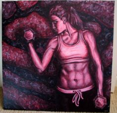 """""""Strength"""" Original Acrylic Painting on Canvas by Michelle Durell / Durell Studio"""