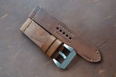 24 Vintage Leather Handmade Watch Strap Custom Made by NeptuneStraps